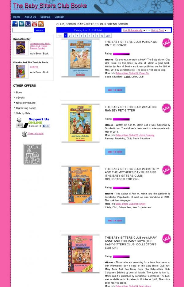 The Baby Sitters Club Books