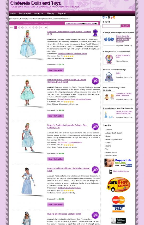 Cinderella Dolls and Toys