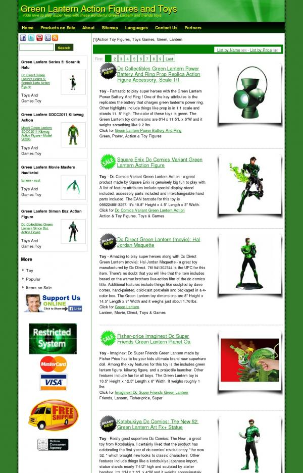 Green Lantern Action Figures and Toys