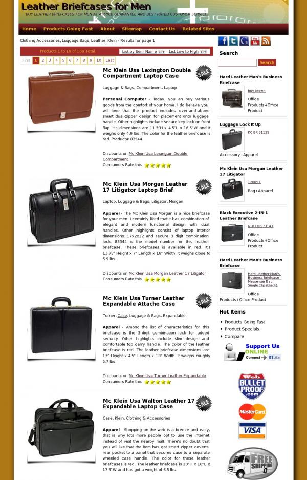Leather Briefcases for Men